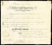 Martin Van Buren - Diplomatic Appointment Signed 11/16/1838 With Co-signers
