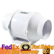 Low Noise 4 Inch Hydroponic Inline Intake Mixed Flow Duct 2600 Rpm Air Exhaust