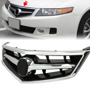 Fit New 2006 2007 2008 Acura Tsx Front Grill Grille W/chrome Molding 4-door 4dr