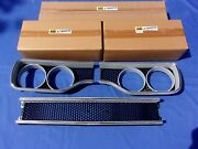 New 1970 Plymouth Gtx Center Grill And Hl Bezels Black Honeycomb Mopar Licensed