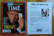 President Donald Trump Signed Time 1989 Magazine This Man May Turn You Green Psa