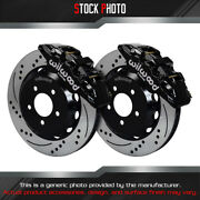Wilwood Street Drilled And Slotted Rotor Aero6 Caliper F Brake For 11-14 Mustang