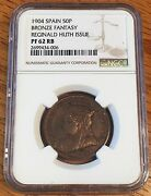 1904 Spain 50 Peseta Reginald Huth Issue Ngc Pf 62 Rb - High Quality Scans 4006