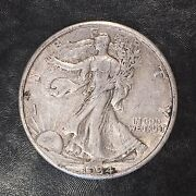 1934-s Walking Liberty Half - Full Clear Detail - High Quality Scans F057