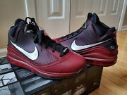Nike Lebron 7 Vii Qs Christmas Extra Lace Menand039s 8.5 - Team Red Cu5133 600