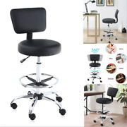 Office Chair Adjustable Swivel Drafting Rolling Stool Salon Back Support Foot