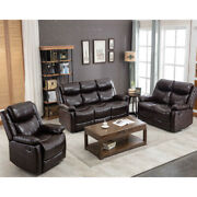 Pu Leather Reclining Sofa Set Classic Sectional Couch Furniture For Home Office