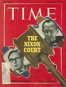 William H. Rehnquist - Magazine Cover Signed Co-signed By Lewis F. Powell Jr.