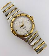 Omega Constellation Perpetual Calendar 18kt Yellow Gold And Steel Full Bar 1252.30