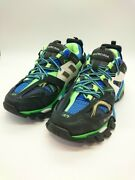 Secondhand Balenciaga Track Trainers 542023 Low Cut Sneakers Blu Shoes