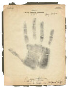 Preston S. Foster - Hand/foot Print Or Sketch Signed