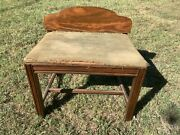 Vintage Antique Art Deco Vanity Sewing Piano Wood Wooden Bench Stool Chair