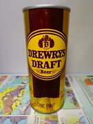 16oz Drewrys Draft Straight Steel Pull Tab Empty Beer Can 149-5 Indiana