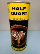 16oz Drewrys Draft Straight Steel Pull Tab Beer Can 148-29 Chicago, Illinois