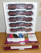 Mth 20-40010 Long Island Lirr 70and039 Abs Madison O Scale Passenger Train 5 Car Set