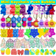 23 Styles Fidget Toy Popit Bubble Simple Dimple Keychain Adhd Stress Relief Gift