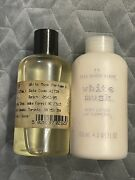 Vtg The Body Shop White Musk Perfume Oil Lotion 4.2oz Rare Discontinued