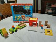Vintage Fisher Price Little People 944 Play Family Lift And Load Lumber Yard Box