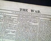 Battle Of Lake Erie W/ Oliver Hazard Perryand039s Famous Quote War Of 1812 Newspaper