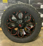 5 20x9 D787 Fuel Assault Red Wheels Rims 32 At Tires 5x5 Jeep Gladiator Jt