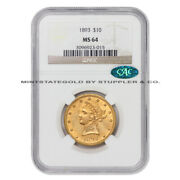 1893 10 Gold Liberty Head Eagle Ngc Ms64 Cac Certified Choice Graded Coin