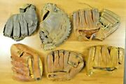 Lot Of Vintage Collectible Baseball Gloves Must See