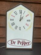 Rare Working Large Drink Dr Pepper Clock Lighted Soda Sign 5a