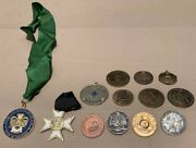 Vintage Free Mason Masonic Coin, Medals And Medallion Lot Of 13 6e