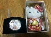 Hello Kitty 40th Anniversary Proof Silver Coin Set 1oz Plush Doll From Japan