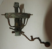 Oddball Antique Gas Lamp Burner With Valve Hanging Old Old Old