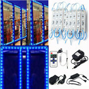 5050 Led Blue Injection Module Letter Channel Club Sign Light +remote+us Power