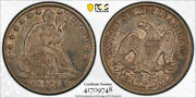 1854 O 50c Arrows Seated Liberty Half Dollar Pcgs Xf 45+ Cac Approved