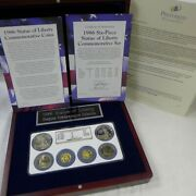 1986 Statue Of Liberty Commemorative 6 Coin Gold And Silver Set Ngc Ms69 Pf69ultra
