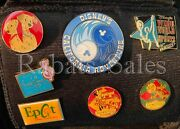 Small Pin Bag With 37 Disney Pins - Perfect For Traders - Cruise, Les, Japan