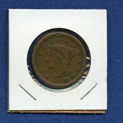 1850 Cent - Us Mint 1c - Penny - Braided Hair Large Cent