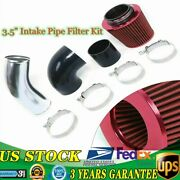 3.5 Universal Cold Air Intake Pipe Kit For Gm Ls1 Lsx Lmx Lqx Motor Us Stock