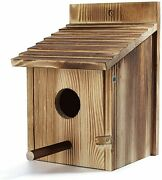 Wood Bird Houses For Outside With Pole Wooden Bird House