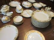 79 Pieces Of Noritake Christmas Ball Fine China-many Extra Serving Pieces