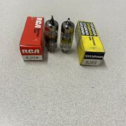 Vintage Rca/sylvania 6jh6 Closely Matched Pair Of Tubes Nos Tested