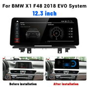 12.3 Car Stereo Gps Android Navigation Bluetooth For Bmw X1 F48 2018 Evo System