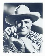 Gene Autry - Photograph Signed 01/09/1985