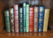 10 Book Lot Easton Press Collector's Ed Hc Leather Dickens Plato Yeats Whitman