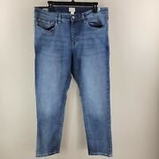 Menand039s Blue Weather Proof Vintage Slim Straight Stretch Jeans Tag 36x30 35x29.5