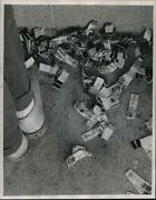 1982 Press Photo Cast-off Gambling Tickets Littered On The Ground, Milwaukee