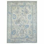 8and03910x12and039 Ivory Angora Oushak Organic Wool Hand Knotted Oriental Rug R69082
