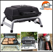 Portable 240 Liquid Propane Gas Grill, Lid-mounted Temperature Gauge New