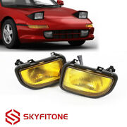 Fits For Toyota Mr2 1991-1995 Front Bumper Driving Fog Lights Lamps Kit Yellow