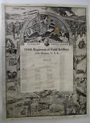 Wwi Us 104th Regiment Field Artillery 27th Division Battery D Memorial Poster