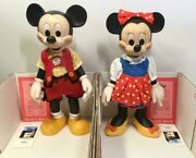 Disney Mickey Mouse Minnie Mouse Limited 2500 Anri Wooden Doll Rare