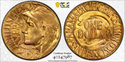 1915 S Panama Pacific G1 Gold Dollar Pcgs Ms 65 Pan Pack Exceptional
